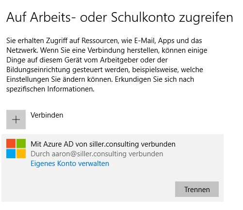 intune privates endgerät
