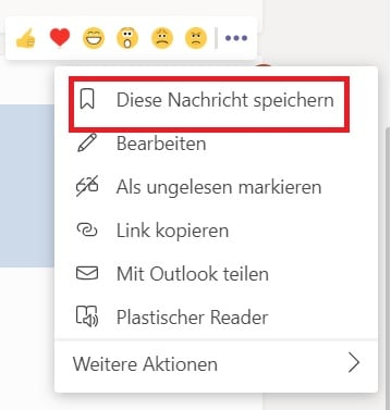 Microsoft Teams Nachricht Speichern