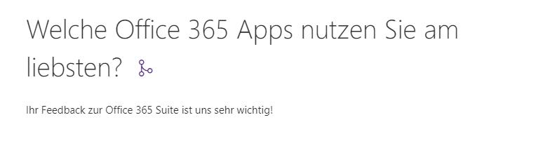 Titel und Beschreibung in Microsoft Forms