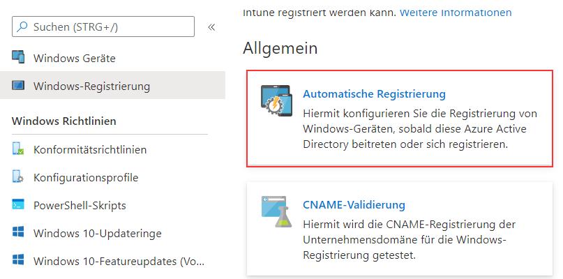 Automatische-Registrierung