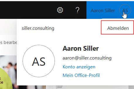 Microsoft-Login-Abmelden