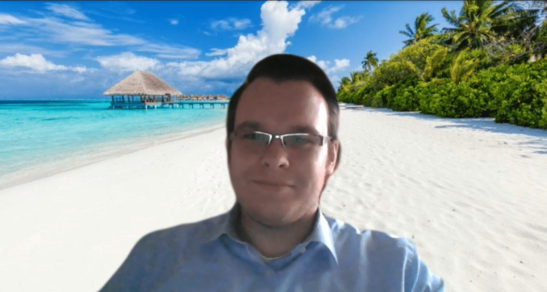 Hintergrund Malediven in Microsoft Teams