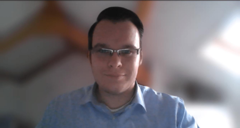 Videokonferenz mit Microsoft Teams Hintergrund verschwommen