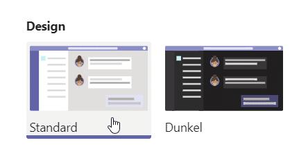 Microsoft Teams personalisieren Design-ändern