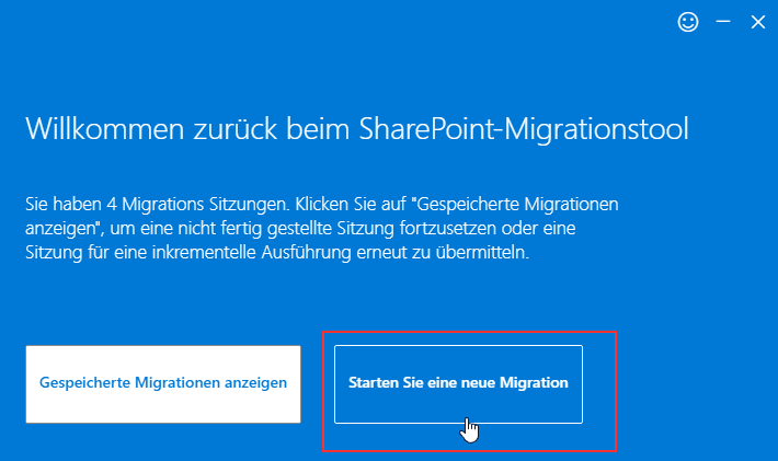 SharePoints-Migration-starten