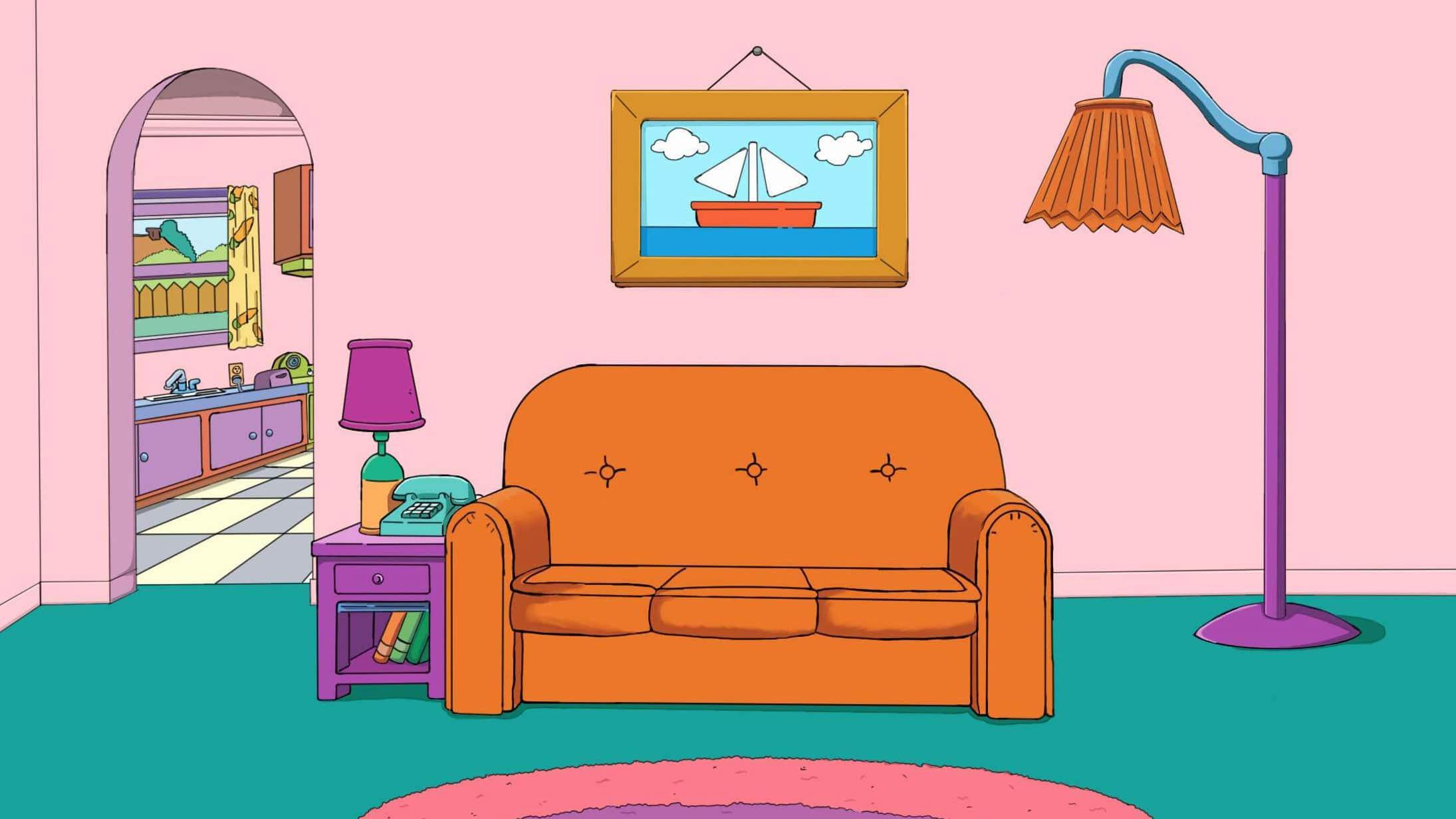 Teams Hintergründe Simpsons-Couch