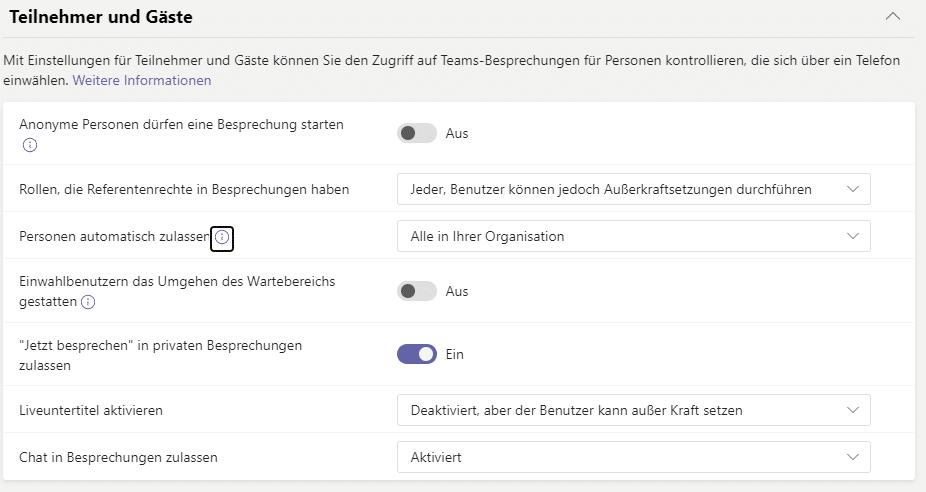Microsoft Teams Datenschutz  Gastrichtlinien-Teams