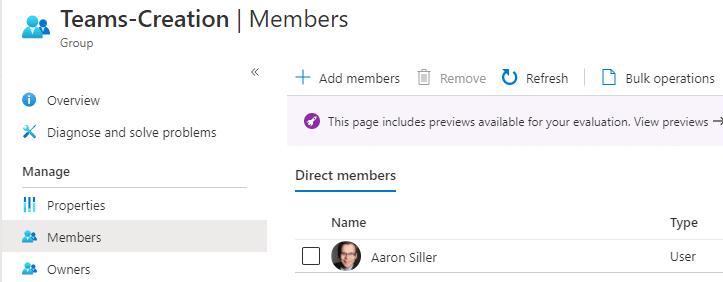 Teams Erstellung einschränken Gruppenmitglied-Microsoft-Teams