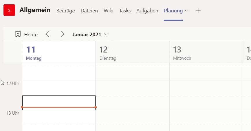 Kalender-Übersicht