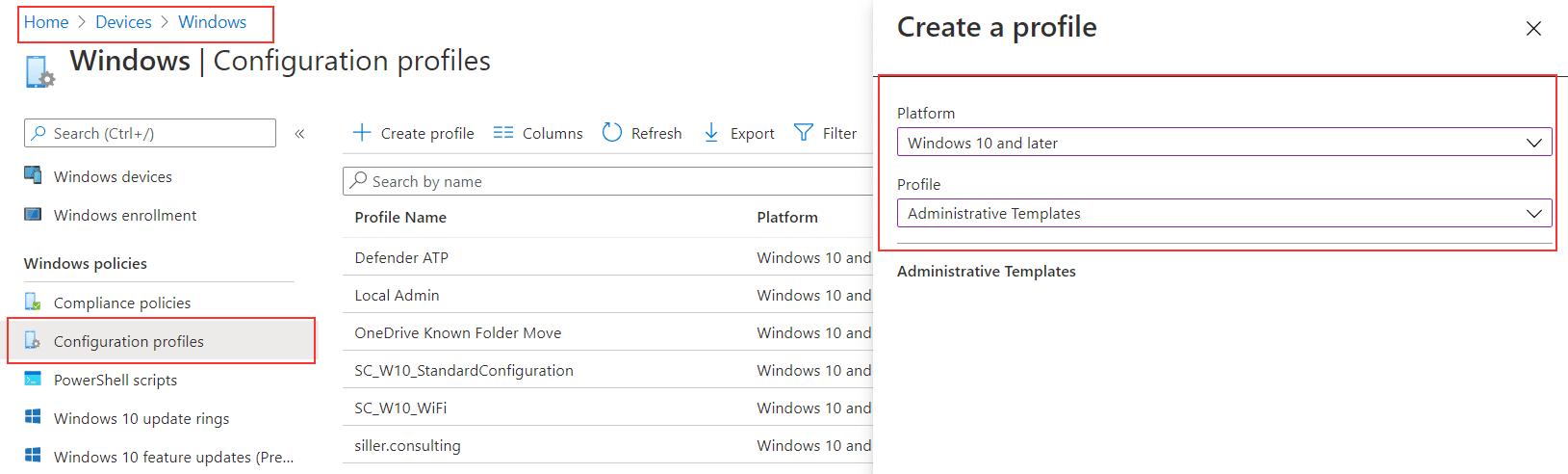 Microsoft Intune - Known Folder Move OneDrive-Intune
