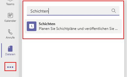 Schichten-App-Teams