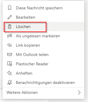 Microsoft Teams Chats Löschen