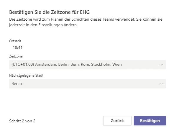 Zeitzone-Schichten-App