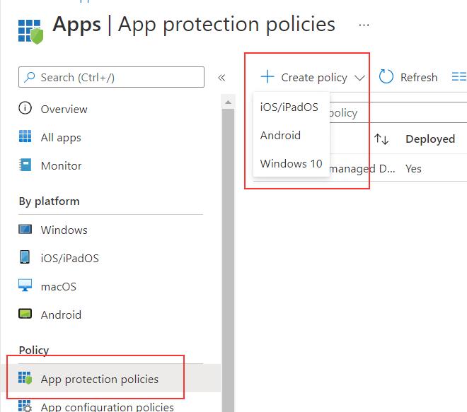 Microsoft Intune einrichten App-Konfigurationsrichtlinien-Einrichten