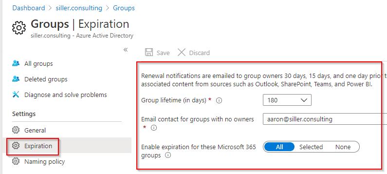 Microsoft-365-Gruppen-Ablaufdatum