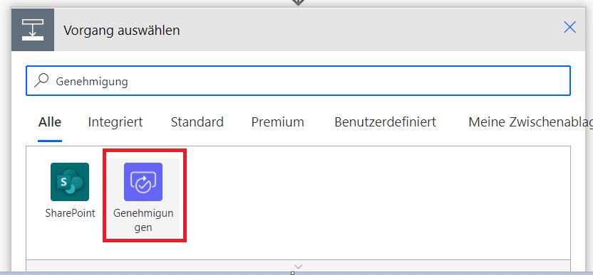 Power-Automate-Genehmigung-Aktion