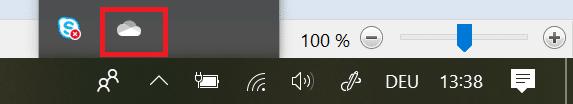OneDrive-Logo-in-der-Taskleiste