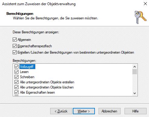 Einrichtung vom AutoPilot Hybrid Join Berechtigungen-Intune-Connector