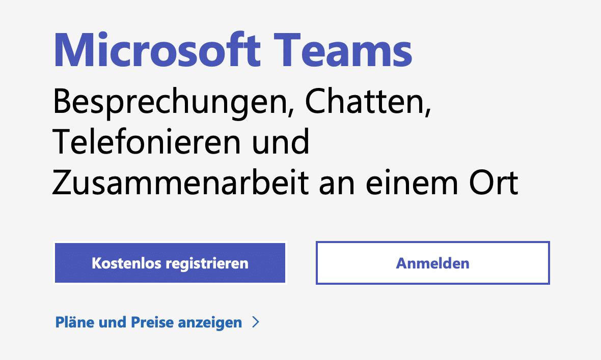 Microsoft Teams kostenlos nutzen