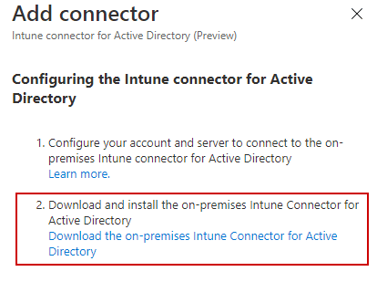 Intune-Connector-Download