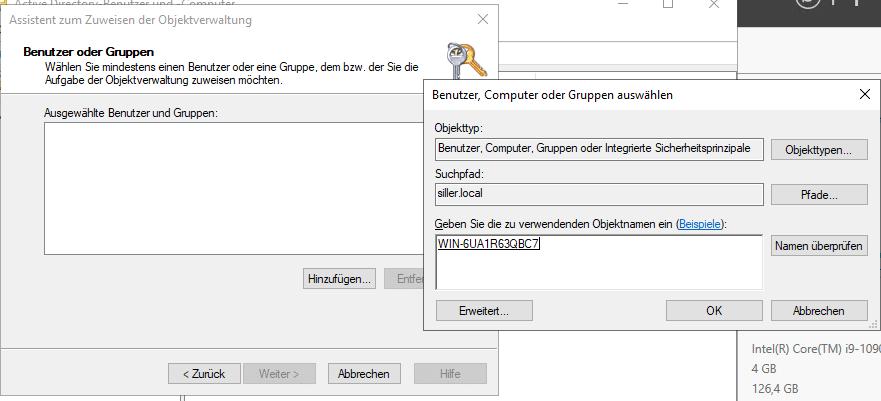 Einrichtung vom AutoPilot Hybrid Join Objektverwaltung-Optionen
