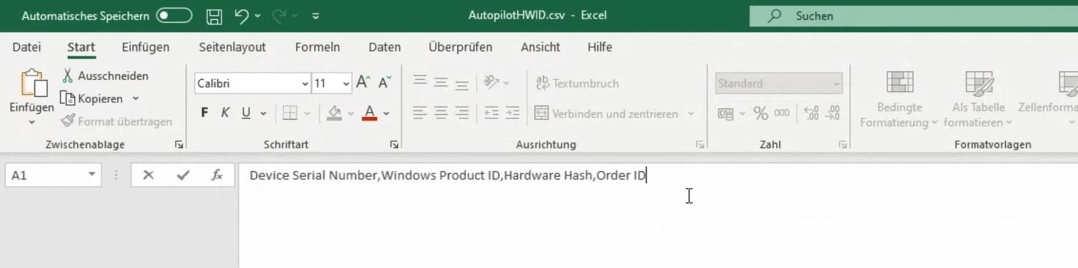 Eintrag der Order ID in CSV Datei um dynamische Gruppen zu formen