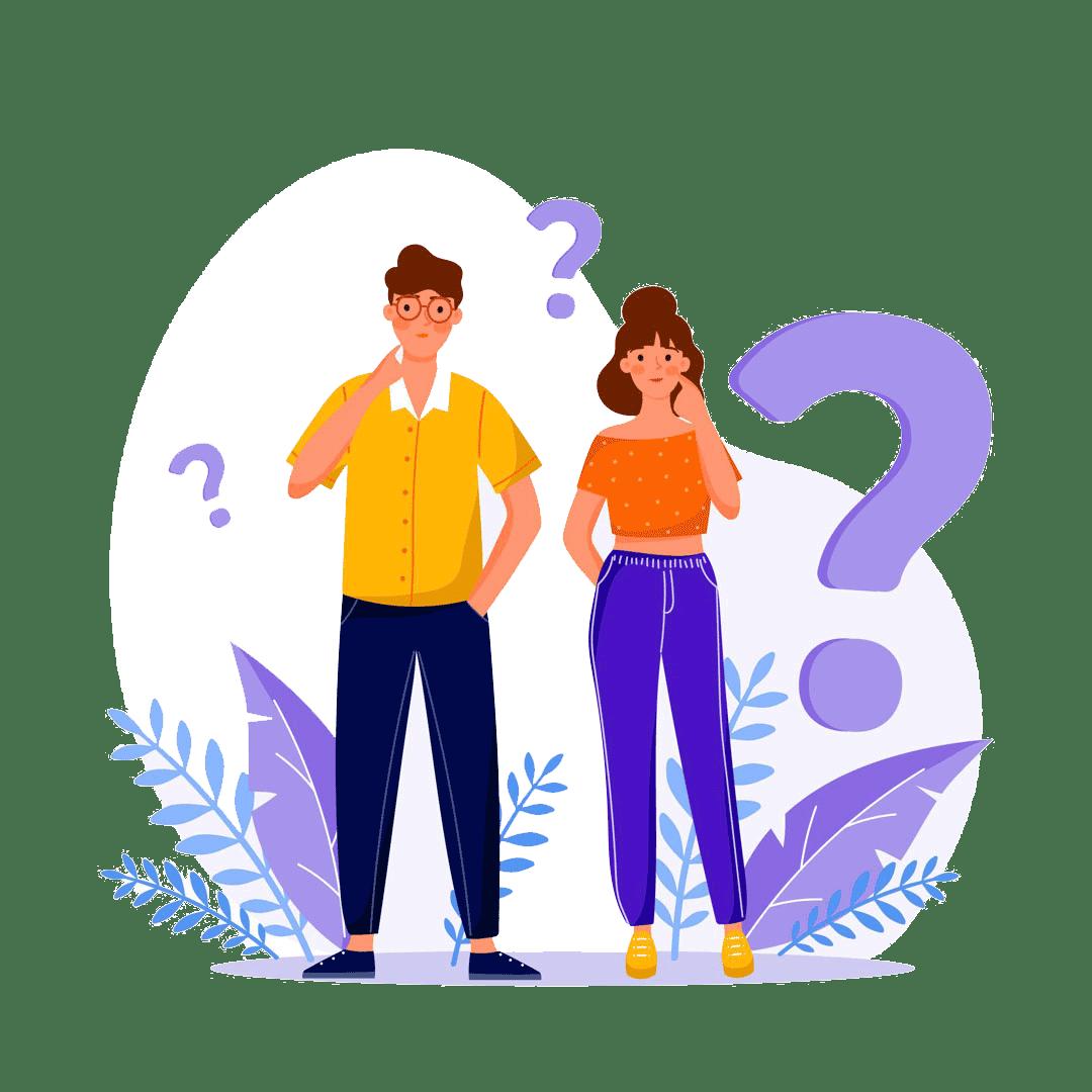 Paar stellt sich Fragen zu Microsoft 365