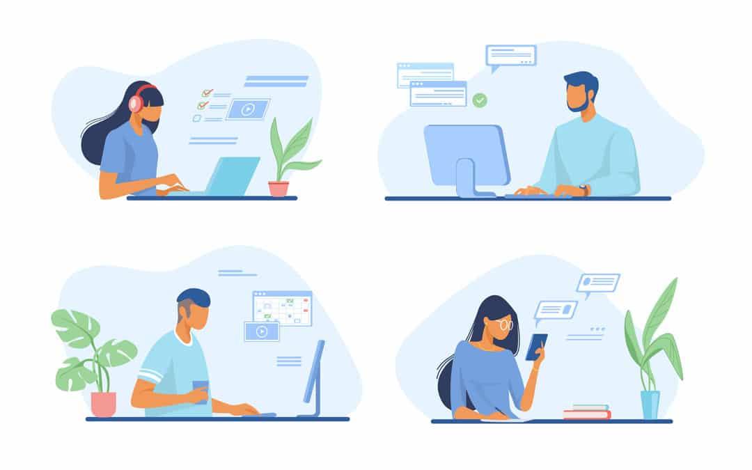 4 verschiedene Nutzer Szenarien für Microsoft 365