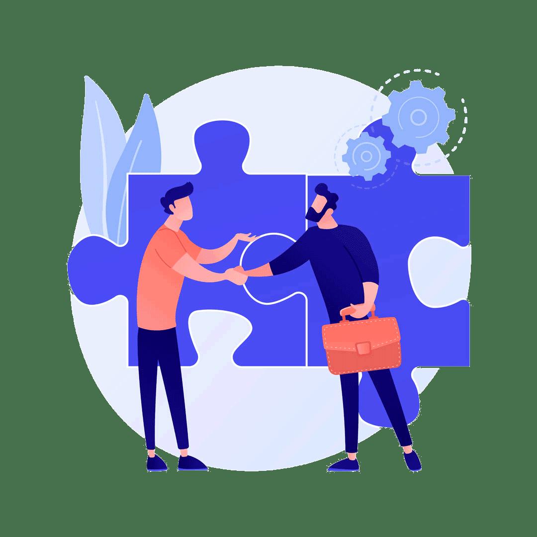 2 Unternehmer werden zu Partnern