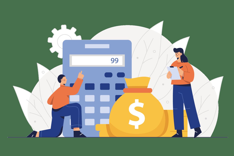 Berechnen der Kosten mit Taschenrechner